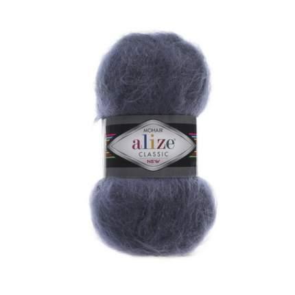 "Пряжа Alize ""Mohair classik new"", цвет: 411 джинс, 200 м, 100 грамм (5 мотков) ( 5)"
