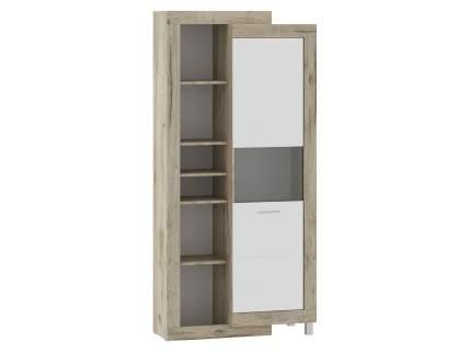 Шкаф-витрина 71280122 ГЕНЕЗИС шкаф-сервант Дуб серый Крафт/Белый глянец