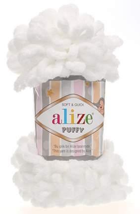 """Пряжа Alize """"Puffy"""", цвет: 55 белый, 9,2 м, 100 грамм (5 мотков) ( 5)"""
