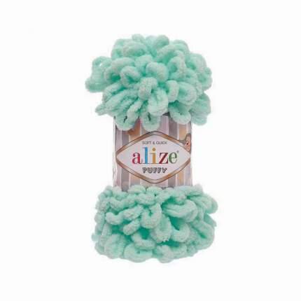 "Пряжа Alize ""Puffy"", цвет: 15 светлая бирюза, 9,2 м, 100 грамм (5 мотков) ( 5)"