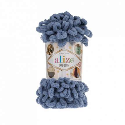 Пряжа Alize Puffy, цвет: 374 голубой, 9,5 м, 100 г (5 мотков) 5 шт.