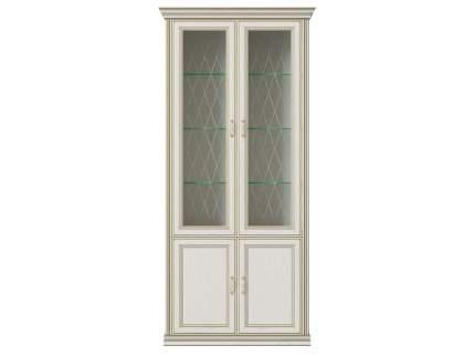 Шкаф-витрина 4-х дверный (2 стеклодвери) Венето Дуб молочный