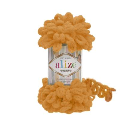 "Пряжа Alize ""Puffy"", цвет: 336 оранжевый, 9,2 м, 100 грамм (5 мотков) ( 5)"