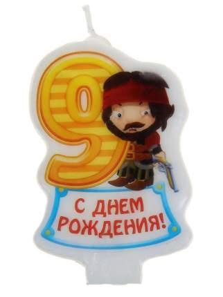 Свеча для торта Sima-land Цифра 9 Пираты