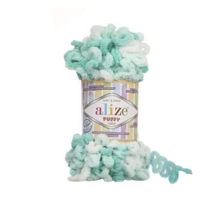 """Пряжа Alize """"Puffy Color"""", цвет: 5920 секционный, 9 м, 100 грамм (5 мотков) ( 5)"""