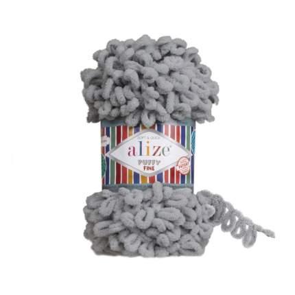 """Пряжа Alize """"Puffy Fine"""", цвет: 343 угольно-серый, 14 м, 100 грамм (5 мотков) ( 5)"""