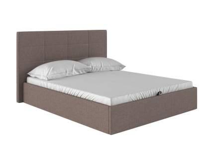 Двуспальная кровать Коста Светло-коричневый, рогожка, 160х200 см