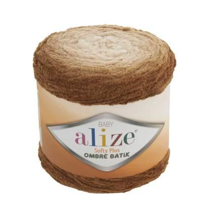 """Пряжа Alize """"Softy Plus Ombre Batik"""", 600 метров, 500 грамм, цвет: 7289 светло-коричневый"""