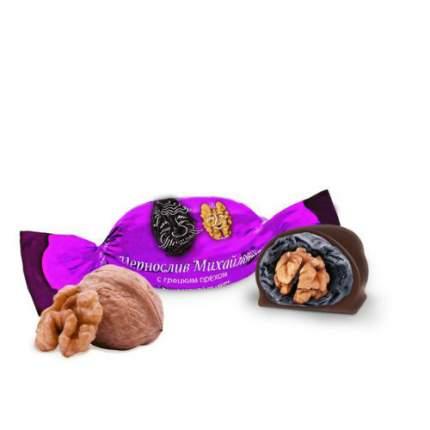 Фруктовичи конфета «Чернослив Михайлович» с грецким орехом в шоколадной глазури 500 гр.