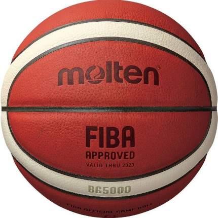 Баскетбольный мяч Molten BG5000 №6 коричневый/бежево-черный