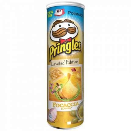 Чипсы PRINGLES  Картофельные со вкусом Фокачча 165г