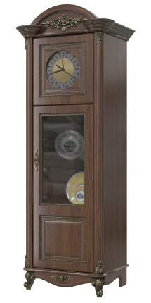 Шкаф с часами Мэри-Мебель Да Винчи ГД-08 орех, 67х52х200 см.
