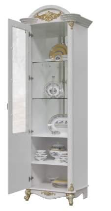 Шкаф Мэри-Мебель Да Винчи ГД-01 патина белый, 67х52х230 см