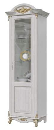 Шкаф Мэри-Мебель Да Винчи ГД-02 патина белый, 67х52х230 см
