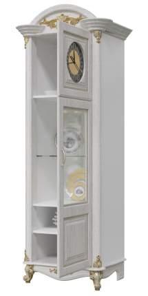 Шкаф с часами Мэри-Мебель Да Винчи ГД-08 патина белый, 67х52х200 см.