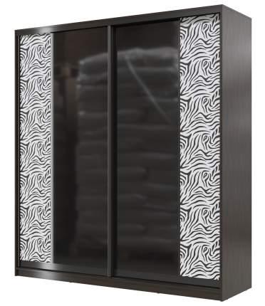 Шкаф-купе Мэри-Мебель Сан-Ремо СР-01-2000 венге цаво/чёрный глянец, 200х60х220 см