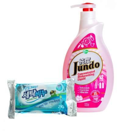 Гель для мытья посуды Sakura эко 1 л и хозяйственное мыло Sandokkaebi 230 г