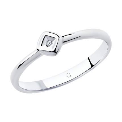 Кольцо женское SOKOLOV из серебра с бриллиантом 87010025 р.19