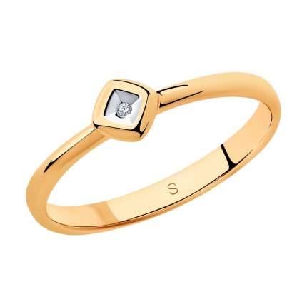 Кольцо женское SOKOLOV из серебра с бриллиантом 87010026 р.19