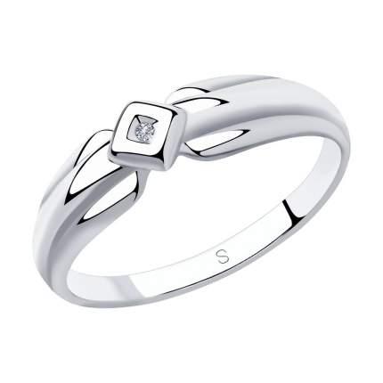 Кольцо женское SOKOLOV из серебра с бриллиантом 87010027 р.16.5