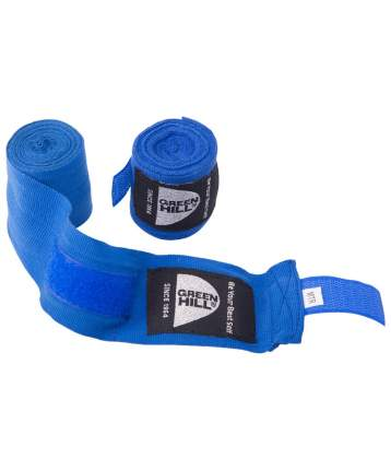 Green Hill Бинт боксерский BP-6232d, 4,5м, эластик, синий