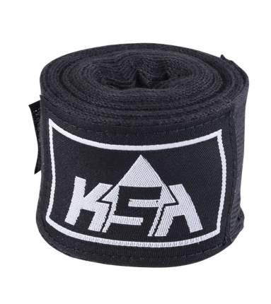 KSA Бинт боксерский Stalker Black, хлопок, 4.5 м