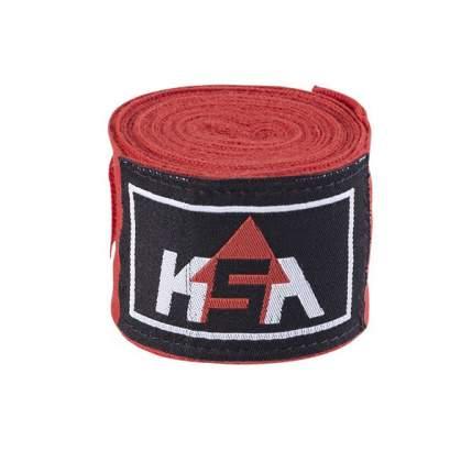 KSA Бинт боксерский Stalker Red, хлопок, 4.5 м