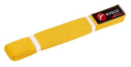 Rusco Пояс для единоборств, 240 см, желтый