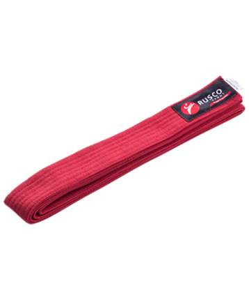 Rusco Пояс для единоборств, 240 см, красный