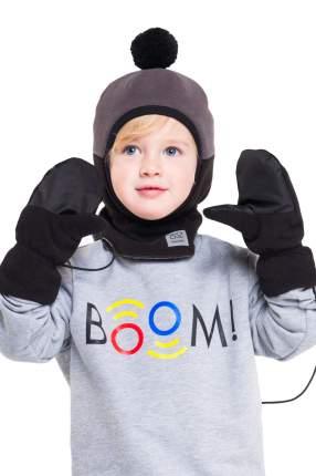 Варежки детские BOOM, цв. черный, р-р 18