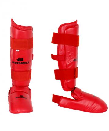 Защита голени и стопы BoyBo Flex, красная, XS