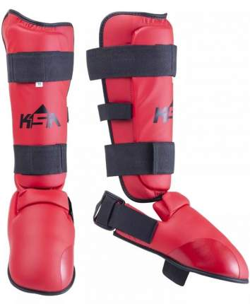 Защита голени и стопы KSA Force, красная, L
