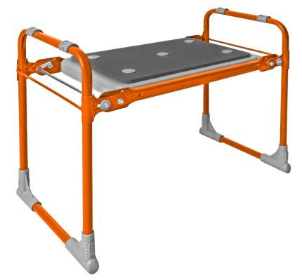 Скамейка садовая с мягким сиденьем НИКА СКМ2/О оранжевый