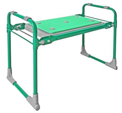 Скамейка садовая с мягким сиденьем НИКА СКМ2/З зеленый