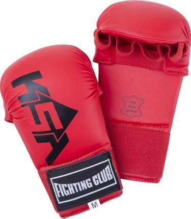 KSA Накладки для карате Slam Red, к/з - M