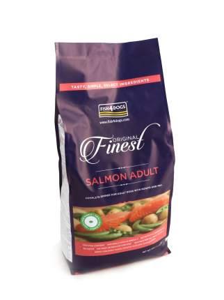 Сухой корм для собак Fish4Dogs Finest Adult для собак мелких и средних пород, лосось, 12кг