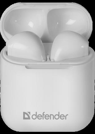 Беспроводные наушники Defender Twins 637 White