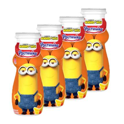Питьевой йогурт Растишка персик-банан с 3 лет 1,6% 90 г бзмж