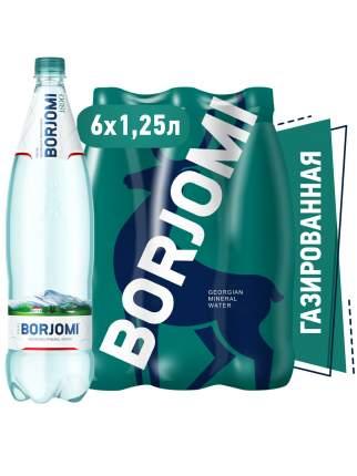 Вода Borjomi природная минеральная 1.25 л пэт 6 штук