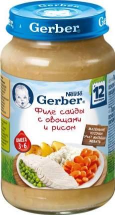Пюре Gerber филе сайды с овощами и рисом с 12 месяцев