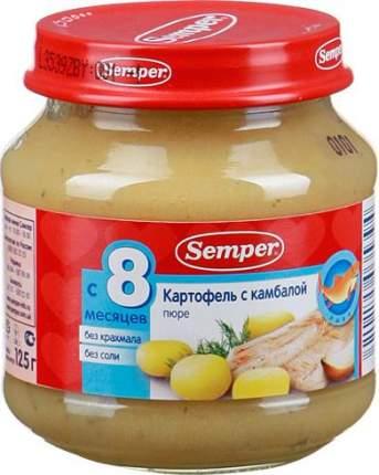 Пюре Semper картофель с камбалой с 8 месяцев