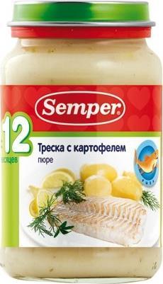 Пюре Semper овощи с треской с 12 месяцев