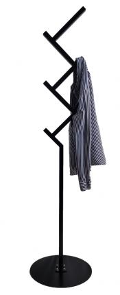 """Вешалка напольная, для одежды, в стиле Лофт, """"Ebenholz"""". 162см"""