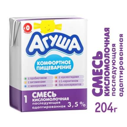 Смесь Агуша 1 кисломолочная 3,5% с 0 месяцев бзмж