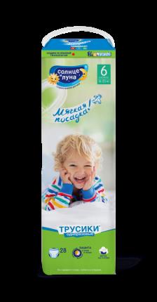Подгузники-трусики Солнце и Луна Мягкая забота 6/XXL (16-25 кг), 28 шт.