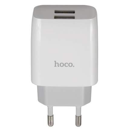 Сетевое зарядное устройство Hoco C73A, 2xUSB, 2,4 A, white