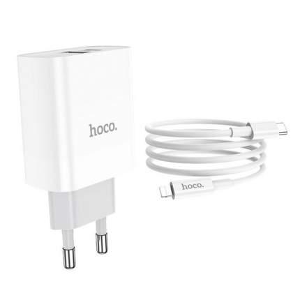 Сетевое зарядное устройство Hoco C80A, 2xUSB, 3 A, white
