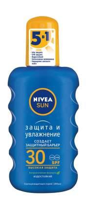 Солнцезащитный спрей NIVEA ЗАЩИТА И УВЛАЖНЕНИЕ  СЗФ 30, 200мл