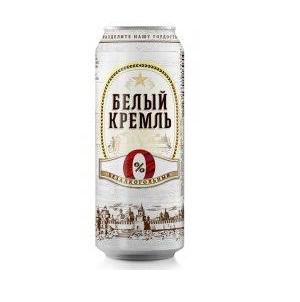 Пиво Белый кремль безалкогольное светлое 0,5 л