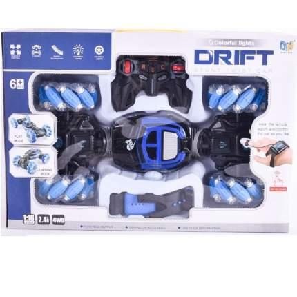 Машинка-перевертыш с управлением жестами и пультом Drift синяя